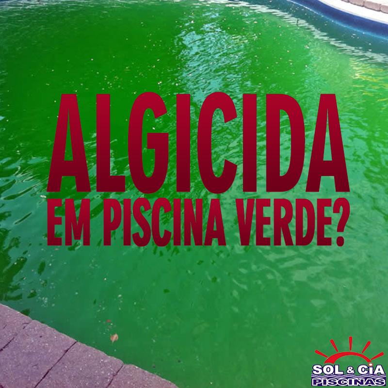 Algicida no combate às algas da piscina